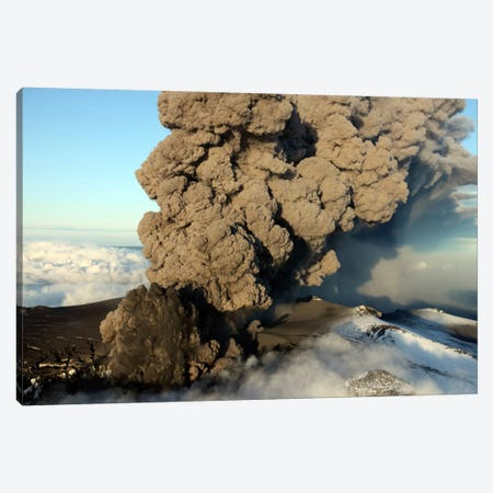 Aerial View Of Ash Cloud Eruption From Eyjafjallajökull Volcano, Iceland Canvas Print #TRK1841} by Richard Roscoe Canvas Art