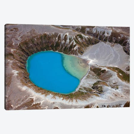 Aerial View Of Crater Lake In Tongariro Volcanic Complex, New Zealand Canvas Print #TRK1842} by Richard Roscoe Canvas Artwork