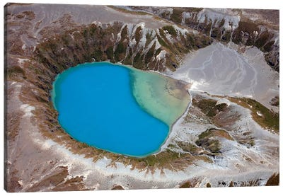 Aerial View Of Crater Lake In Tongariro Volcanic Complex, New Zealand Canvas Art Print