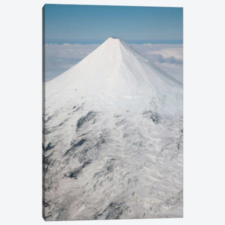Aerial View Of Glaciated Shishaldin Volcano, Unimak Island, Alaska Canvas Print #TRK1843} by Richard Roscoe Canvas Art