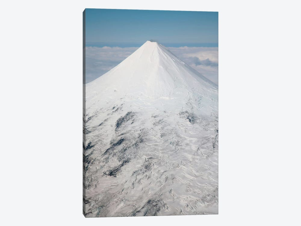 Aerial View Of Glaciated Shishaldin Volcano, Unimak Island, Alaska by Richard Roscoe 1-piece Canvas Art Print