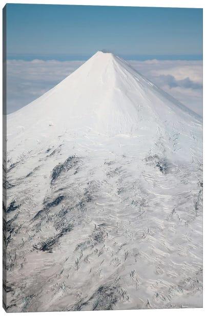 Aerial View Of Glaciated Shishaldin Volcano, Unimak Island, Alaska Canvas Art Print