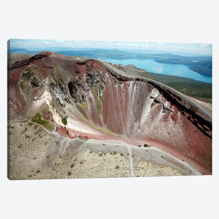 Aerial View Of Rhyolite Dome Complex, Mount Tarawera Volcano, New Zealand Canvas Print #TRK1844} by Richard Roscoe Canvas Art Print