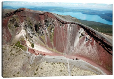 Aerial View Of Rhyolite Dome Complex, Mount Tarawera Volcano, New Zealand Canvas Art Print