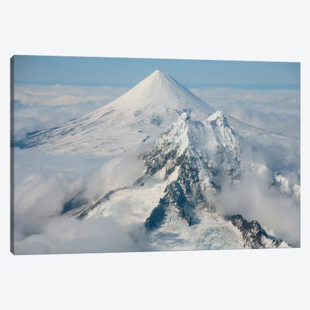 Aerial View Of Shishaldin Volcano, With Isanotski Peaks In Foreground, Alaska Canvas Print #TRK1845} by Richard Roscoe Art Print