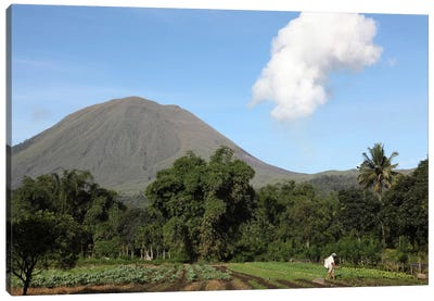 Agriculture Near Kinilow Town At Foot Of Lokon-Empung Volcano, Indonesia Canvas Art Print
