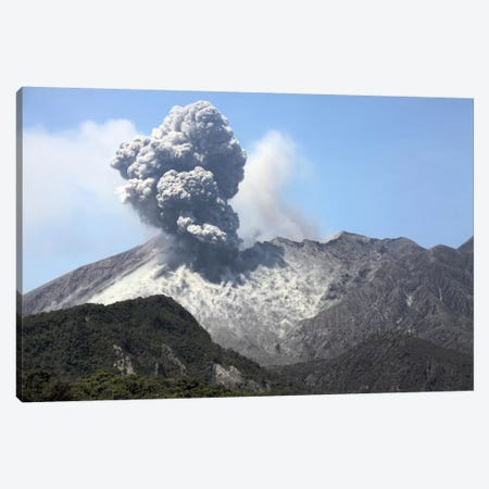 Ash Cloud Eruption From Sakurajima Volcano, Japan Canvas Print #TRK1848} by Richard Roscoe Canvas Wall Art