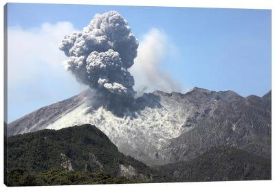 Ash Cloud Eruption From Sakurajima Volcano, Japan Canvas Art Print