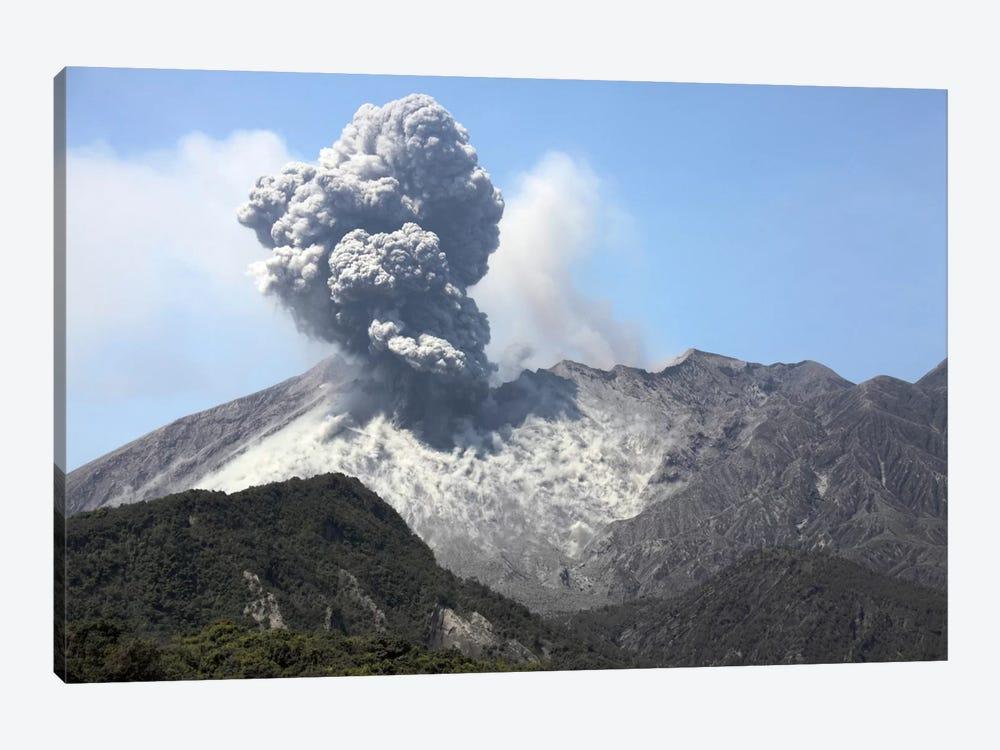 Ash Cloud Eruption From Sakurajima Volcano, Japan by Richard Roscoe 1-piece Canvas Art