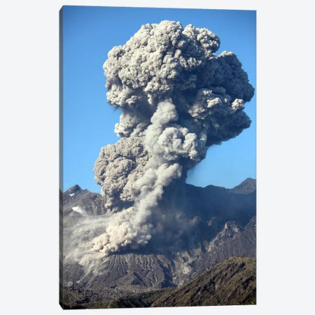 Ash Cloud Following Explosive Vulcanian Eruption, Sakurajima Volcano, Japan Canvas Print #TRK1849} by Richard Roscoe Canvas Artwork