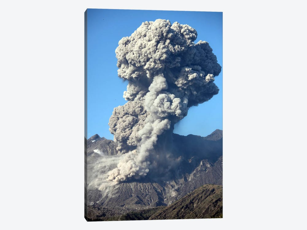 Ash Cloud Following Explosive Vulcanian Eruption, Sakurajima Volcano, Japan by Richard Roscoe 1-piece Art Print