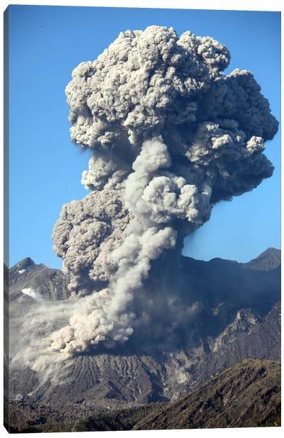 Ash Cloud Following Explosive Vulcanian Eruption, Sakurajima Volcano, Japan Canvas Art Print