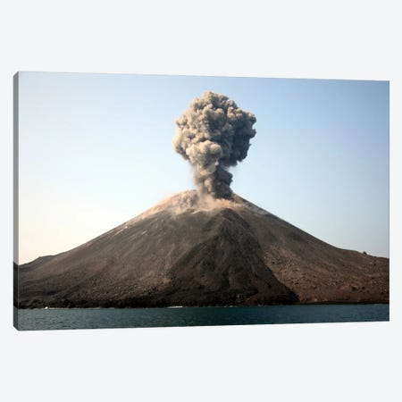 Ash Cloud From Vulcanian Eruption Of Anak Krakatau Volcano, Sunda Strait, Java, Indonesia Canvas Print #TRK1850} by Richard Roscoe Canvas Print