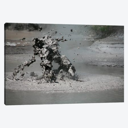 Bursting Mud Bubble, Wai-O-Tapu Geothermal Area, Taupo Volcanic Zone, New Zealand Canvas Print #TRK1855} by Richard Roscoe Canvas Artwork