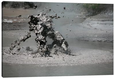 Bursting Mud Bubble, Wai-O-Tapu Geothermal Area, Taupo Volcanic Zone, New Zealand Canvas Art Print