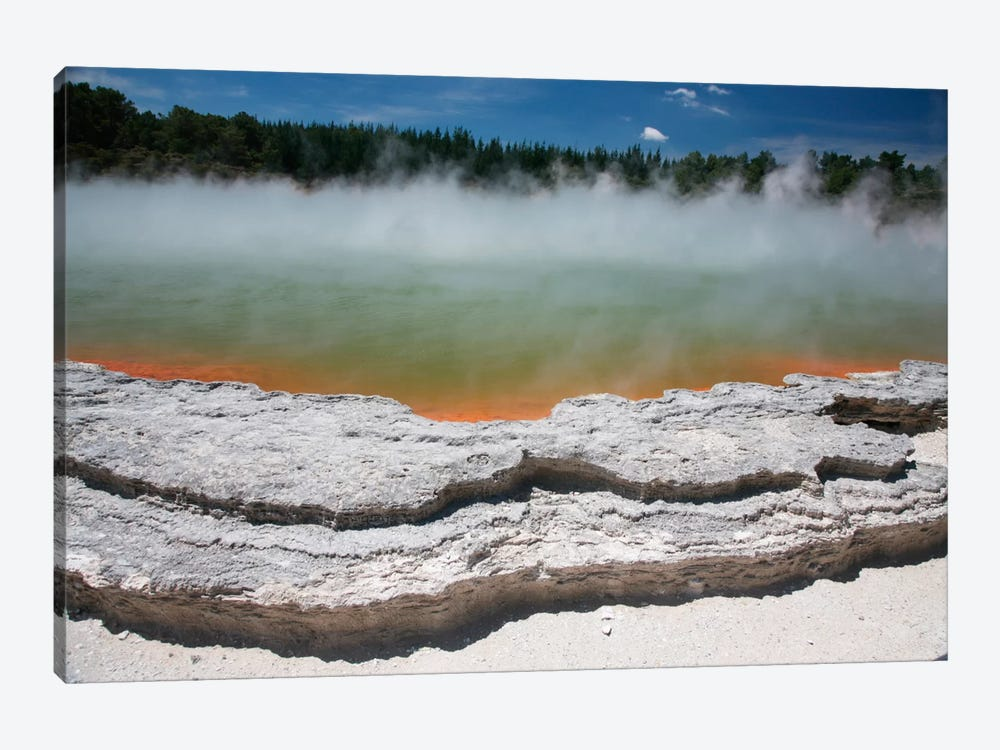 Champagne Pool Hot Spring, Wai-O-Tapu Geothermal Area, Taupo Volcanic Zone, New Zealand by Richard Roscoe 1-piece Canvas Artwork