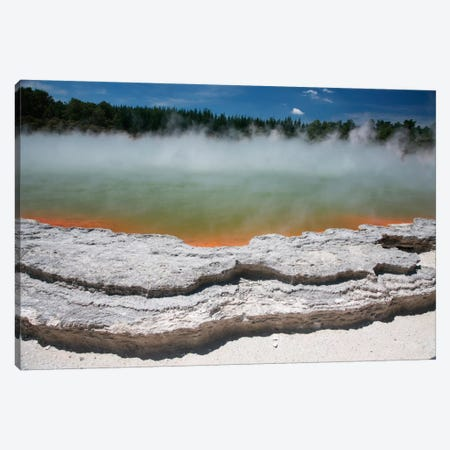 Champagne Pool Hot Spring, Wai-O-Tapu Geothermal Area, Taupo Volcanic Zone, New Zealand Canvas Print #TRK1857} by Richard Roscoe Canvas Art