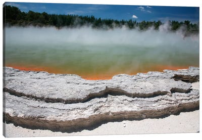 Champagne Pool Hot Spring, Wai-O-Tapu Geothermal Area, Taupo Volcanic Zone, New Zealand Canvas Art Print