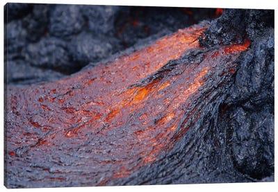 Close-Up Of Lava Flow, Kilauea Volcano, Big Island, Hawaii Canvas Art Print
