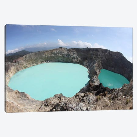 Colorful Crater Lakes Of Kelimutu Volcano, Flores Island, Indonesia Canvas Print #TRK1862} by Richard Roscoe Canvas Art