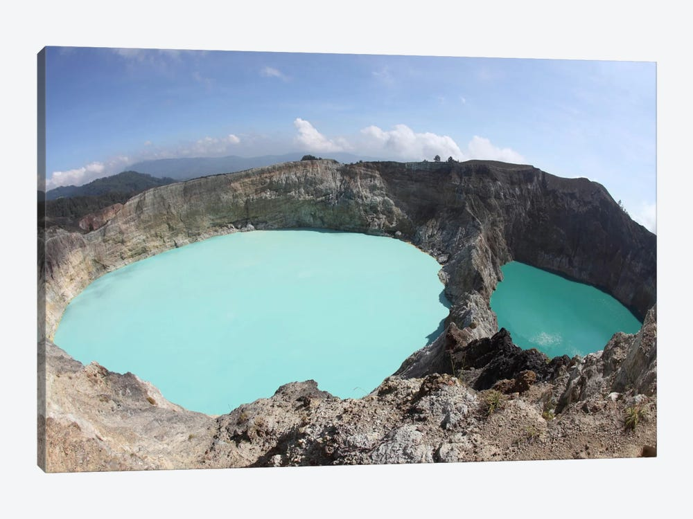 Colorful Crater Lakes Of Kelimutu Volcano, Flores Island, Indonesia by Richard Roscoe 1-piece Canvas Artwork