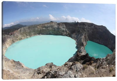 Colorful Crater Lakes Of Kelimutu Volcano, Flores Island, Indonesia Canvas Art Print