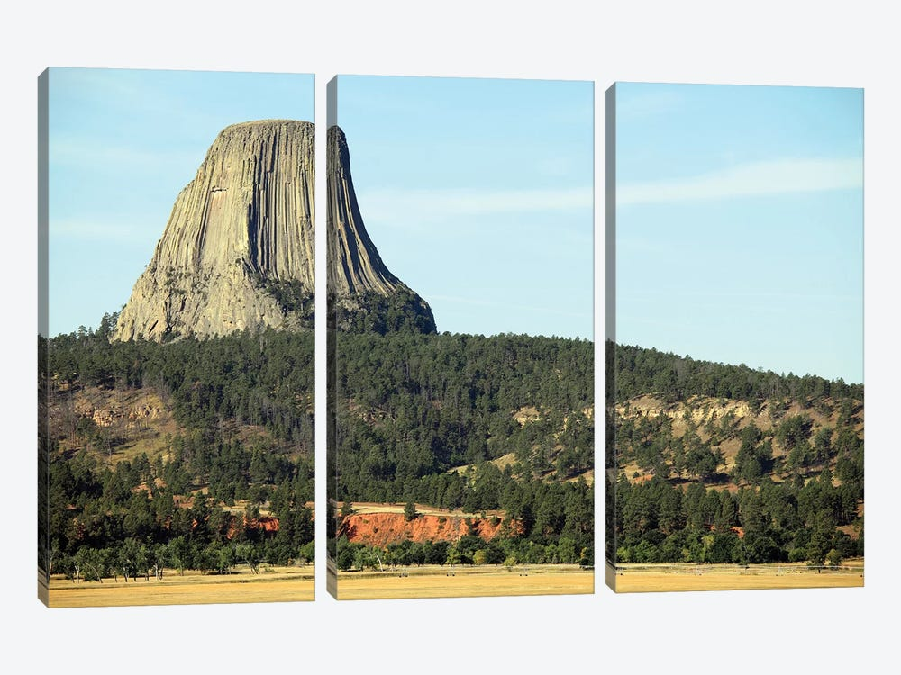 Devils Tower National Monument, Wyoming I by Richard Roscoe 3-piece Canvas Art Print