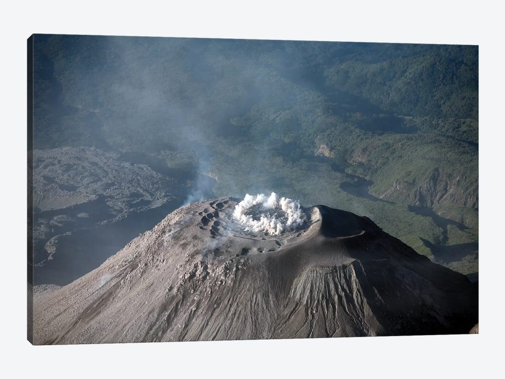 Eruption At Summit Of Santiaguito Dome Complex, Santa Maria Volcano, Guatemala 1-piece Canvas Print