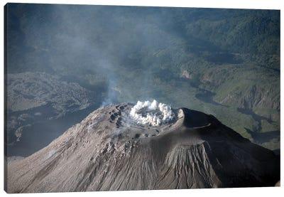 Eruption At Summit Of Santiaguito Dome Complex, Santa Maria Volcano, Guatemala Canvas Art Print