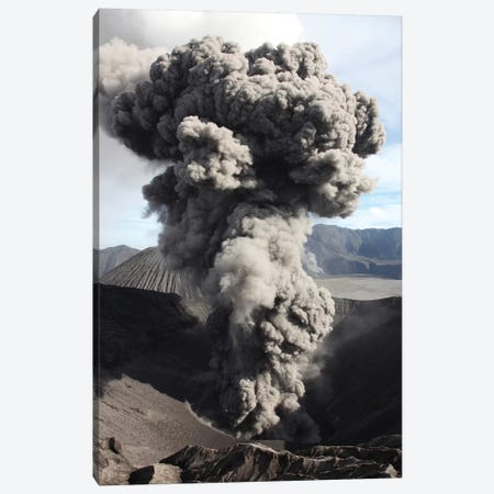 Eruption Of Ash Cloud From Crater Of Mount Bromo, Tengger Caldera, Java, Indonesia Canvas Print #TRK1868} by Richard Roscoe Canvas Artwork
