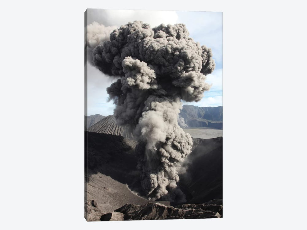 Eruption Of Ash Cloud From Crater Of Mount Bromo, Tengger Caldera, Java, Indonesia by Richard Roscoe 1-piece Canvas Art