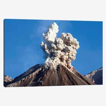 Eruption Of Ash Cloud From Santiaguito Dome Complex, Santa Maria Volcano, Guatemala I Canvas Print #TRK1869} by Richard Roscoe Canvas Wall Art