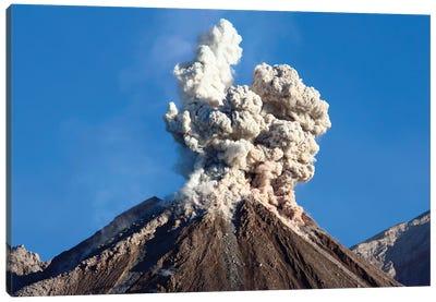 Eruption Of Ash Cloud From Santiaguito Dome Complex, Santa Maria Volcano, Guatemala I Canvas Art Print