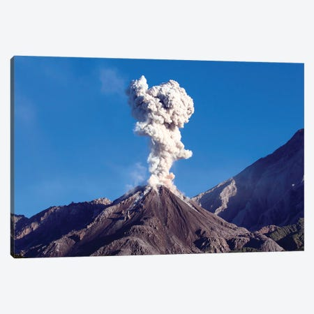 Eruption Of Ash Cloud From Santiaguito Dome Complex, Santa Maria Volcano, Guatemala II Canvas Print #TRK1870} by Richard Roscoe Art Print