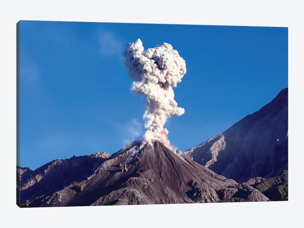 Eruption Of Ash Cloud From Santiaguito Dome Complex, Santa Maria Volcano, Guatemala II by Richard Roscoe 1-piece Canvas Art Print