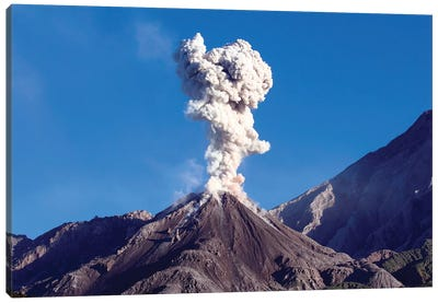 Eruption Of Ash Cloud From Santiaguito Dome Complex, Santa Maria Volcano, Guatemala II Canvas Art Print