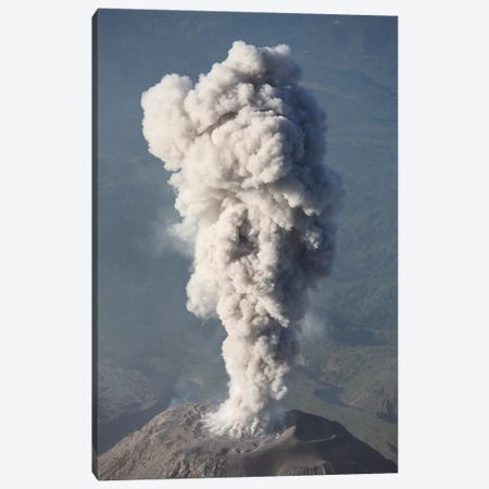 Eruption Of Ash Cloud From Santiaguito Dome Complex, Santa Maria Volcano, Guatemala III Canvas Print #TRK1871} by Richard Roscoe Canvas Art Print