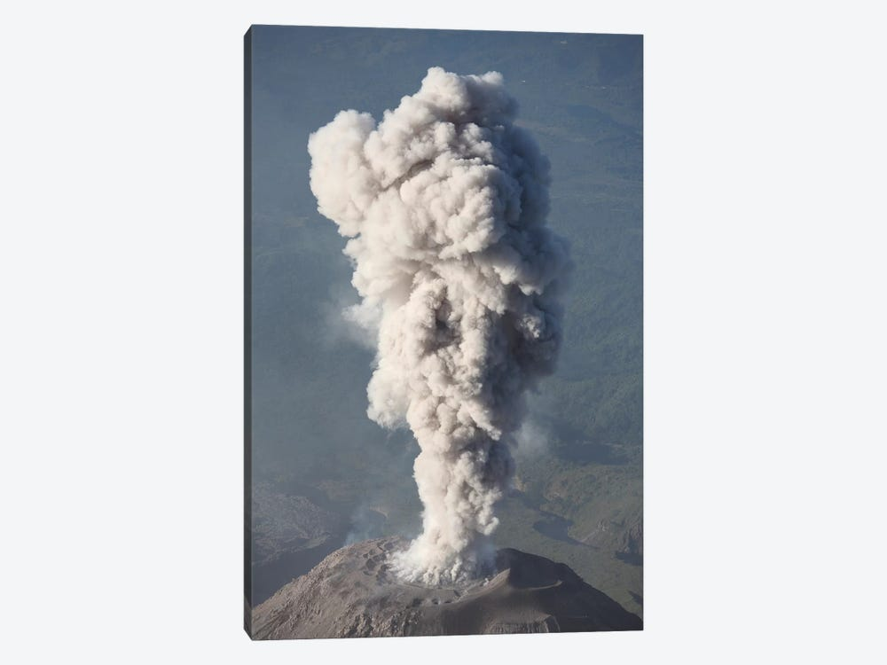 Eruption Of Ash Cloud From Santiaguito Dome Complex, Santa Maria Volcano, Guatemala III by Richard Roscoe 1-piece Canvas Art