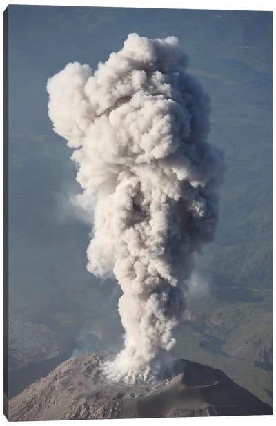 Eruption Of Ash Cloud From Santiaguito Dome Complex, Santa Maria Volcano, Guatemala III Canvas Art Print