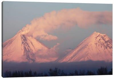 Eruption Of Kliuchevskoi Volcano, Kamchatka, Russia I Canvas Art Print