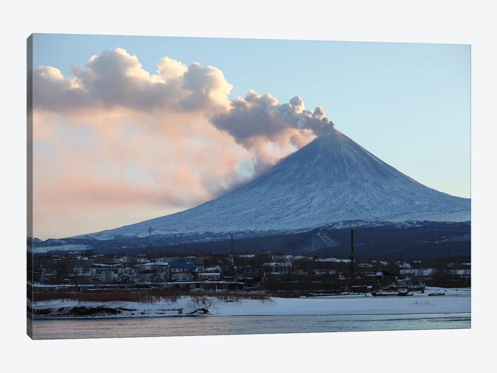 Eruption Of Kliuchevskoi Volcano, Kamchatka, Russia II 1-piece Canvas Wall Art