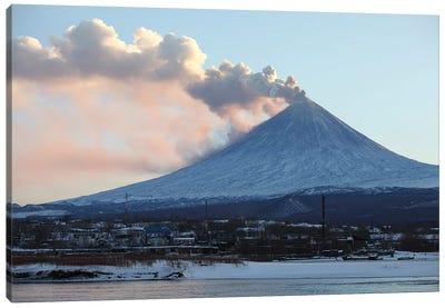 Eruption Of Kliuchevskoi Volcano, Kamchatka, Russia II Canvas Art Print