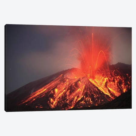 Explosive Vulcanian Eruption Of Lava On Sakurajima Volcano, Japan Canvas Print #TRK1876} by Richard Roscoe Canvas Art