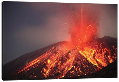 Explosive Vulcanian Eruption Of Lava On Sakurajima Volcano, Japan Canvas Art Print