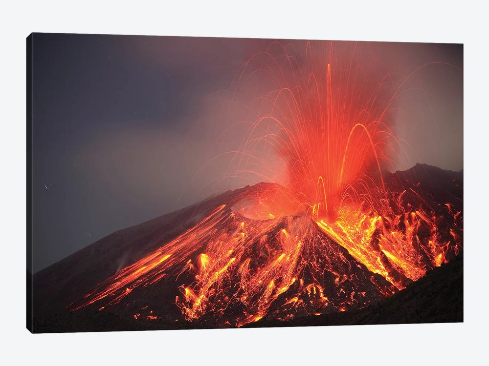 Explosive Vulcanian Eruption Of Lava On Sakurajima Volcano, Japan by Richard Roscoe 1-piece Art Print