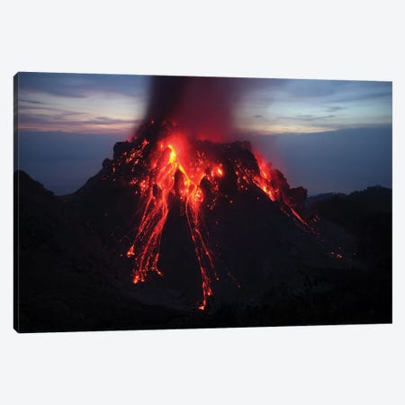 Glowing Rerombola Lava Dome Of Paluweh Volcano, Indonesia I Canvas Print #TRK1879} by Richard Roscoe Art Print