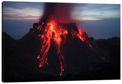 Glowing Rerombola Lava Dome Of Paluweh Volcano, Indonesia I Canvas Art Print
