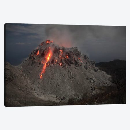 Glowing Rerombola Lava Dome Of Paluweh Volcano, Indonesia II Canvas Print #TRK1880} by Richard Roscoe Canvas Art