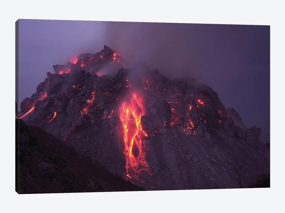 Glowing Rerombola Lava Dome Of Paluweh Volcano, Indonesia III by Richard Roscoe 1-piece Canvas Art Print