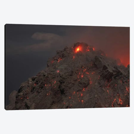 Glowing Summit Of Rerombola Lava Dome Of Paluweh Volcano Canvas Print #TRK1882} by Richard Roscoe Canvas Art